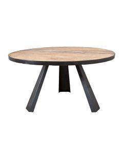 Eettafel rond met metalen poot 152x78 - elm