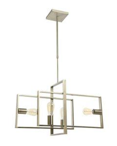 Quball  Hanglamp 4L Geborsteld Messing