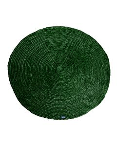 Carpet Jute round 220x220 cm - green