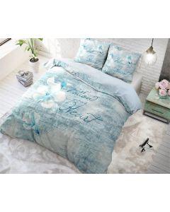 Sleeptime - Katoen - Turquoise - 200 x 220