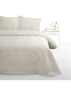 Fancy Embroidery - 30% Katoen / 30% Polyester / 40% Polypropyleen - Creme - 230 x 270