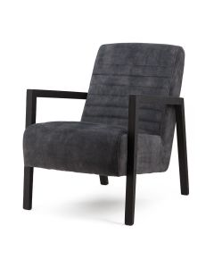 Fauteuil Lars - antraciet adore