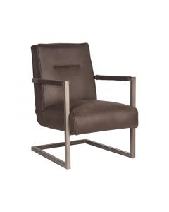 LABEL51 Fauteuil Jim - Antraciet - Microfiber