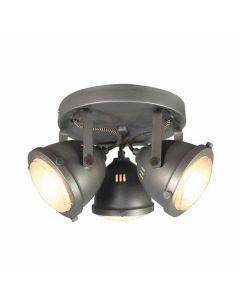 LABEL51 - Led Spot Moto 3-Lichts - Burned Steel