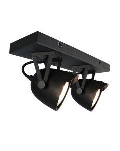 Led Spot Cap 2-Lichts 32x10x14 cm - Zwart