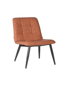 LABEL51 Fauteuil James - Cognac - PU-Leder