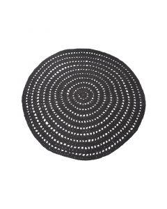 LABEL51 - Vloerkleed Knitted - Zwart - 150 cm